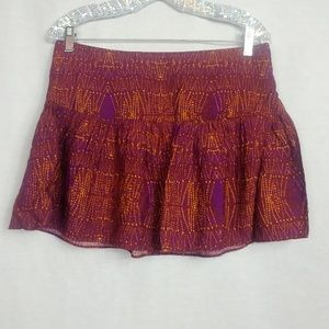 BCBGeneration size 10 Purple Orange Mini Skirt